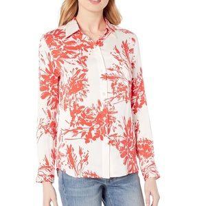 Equipment Brett silk button down blouse red XS new